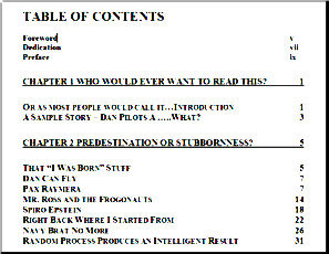 [The Table of Contents]